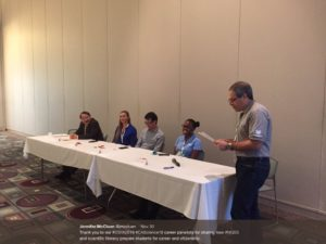 Panelists from local industry sharing insights for college and career readiness